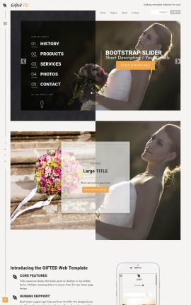 Gifted Wedding Website Template