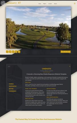 Cinematic Golf Website Template