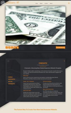 Cinematic Accounting Website Template