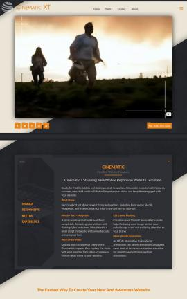 Cinematic Agriculture Website Template