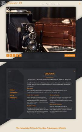Cinematic Antiques Website Template