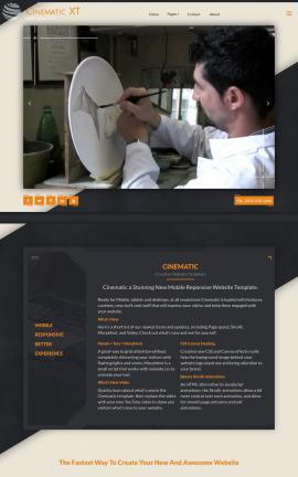 Cinematic Art-supplies Website Template