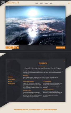 Cinematic Astronomy Website Template