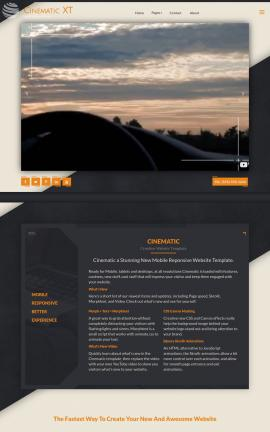 Cinematic Automobile Website Template