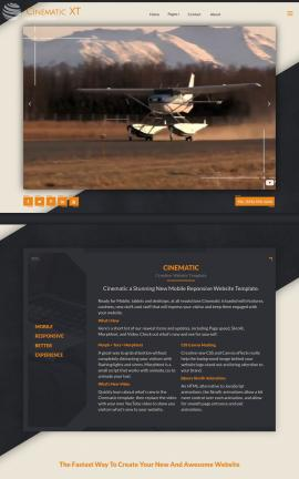 Cinematic Aviation Website Template