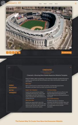 Cinematic Baseball Website Template