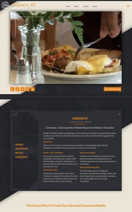 Cinematic Bed-and-breakfast Website Template