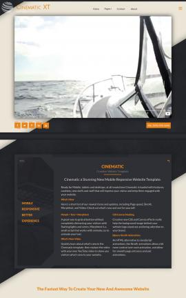 Cinematic Boating Website Template