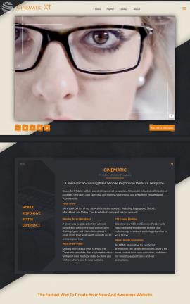 Cinematic Business Website Template