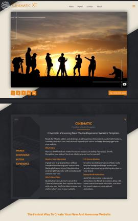 Cinematic Cafe Website Template