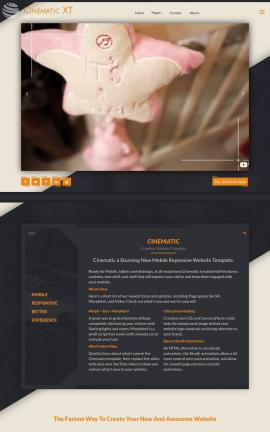 Cinematic Child-care Website Template