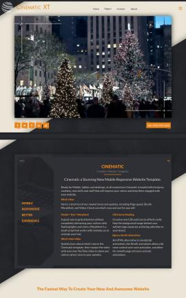 Cinematic Christmas Website Template