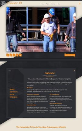 Cinematic Construction Website Template