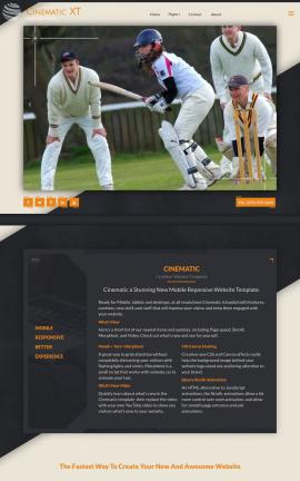 Cinematic Cricket FP2003 Template