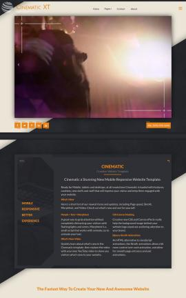 Cinematic Dance Dreamweaver Template