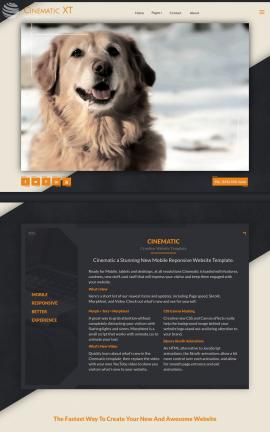 Cinematic Dogs Website Template