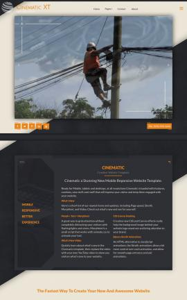 Cinematic Electrical Website Template