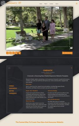 Cinematic Family Website Template