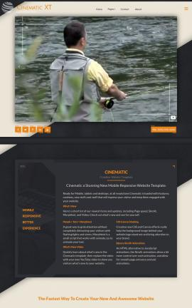 Cinematic Fishing Website Template