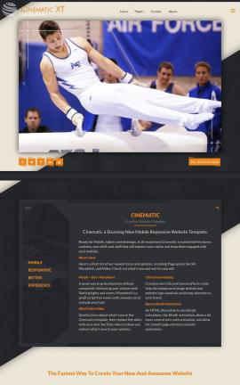 Cinematic Gymnastics Dreamweaver Template