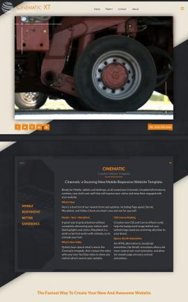 Cinematic Heavy-machines Website Template
