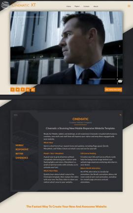 Cinematic Insurance Website Template