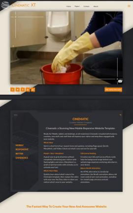 Cinematic Janitorial Website Template