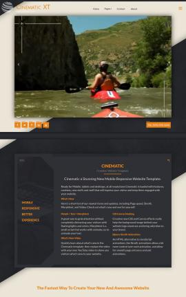 Cinematic Kayak Website Template