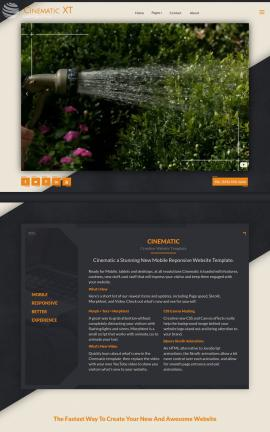 Cinematic Landscaping Website Template