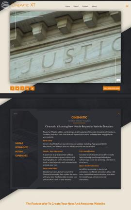 Cinematic Law Website Template