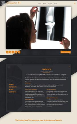 Cinematic Medical Website Template