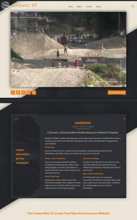 Cinematic Motocross Website Template