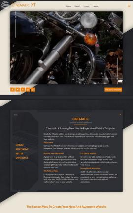 Cinematic Motorcycle Dreamweaver Template