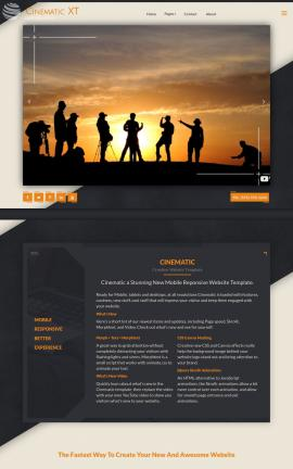 i3dTHEMES Cinematic Dreamweaver Website Templates Screenshot