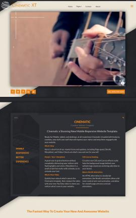 Cinematic Music Website Template