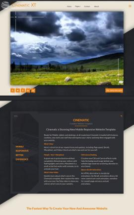 Cinematic Nature Website Template