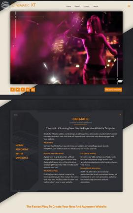 Cinematic Night-club Website Template