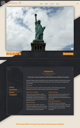 Cinematic Patriotic Web Template