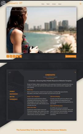 Cinematic Photography Website Template