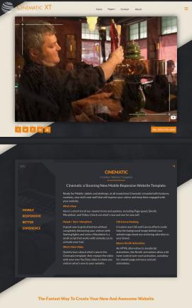 Cinematic Pub Website Template