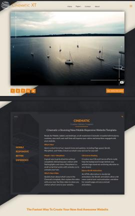 Cinematic Sailing Website Template