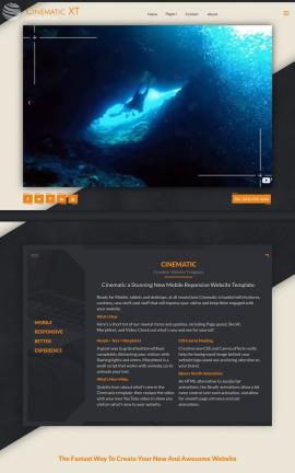 Cinematic Scuba-diving Website Template