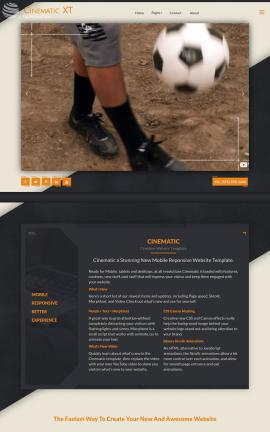 Cinematic Soccer Website Template