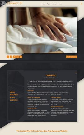 Cinematic Spa Website Template