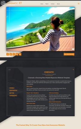 Cinematic Travel Website Template
