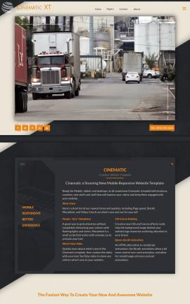 Cinematic Trucking Website Template