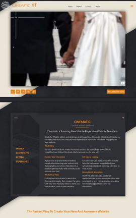 Cinematic Wedding Website Template