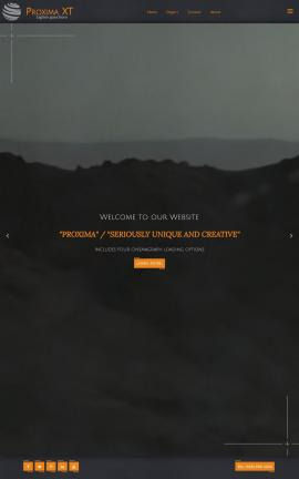 Proxima Cafe Website Template