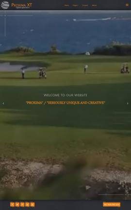 Proxima Golf Website Template