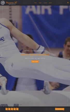 Proxima Gymnastics Website Template